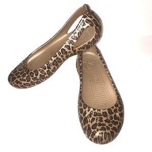 Crocs women ballet flats size 10